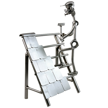 geschenk f r handwerker dachdecker schraubenm nnchen metallfiguren shop. Black Bedroom Furniture Sets. Home Design Ideas